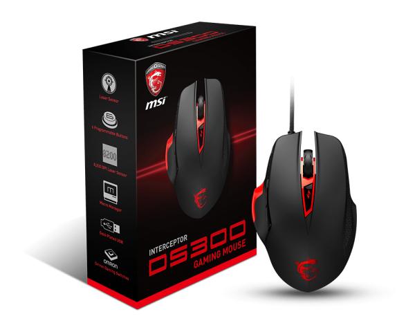 MSI Interceptor DS300 Black Gaming Mouse