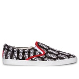 Bucketfeet Pineappleade Black/White Low Top Canvas Slipon Men'S Shoes Size 10