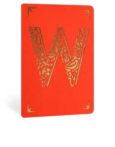 Portico Design W Monogram Red A6 Notebook