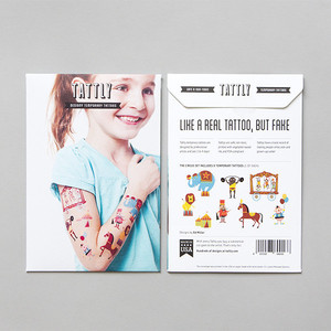 Tattly Circus Temporary Tattoo Set