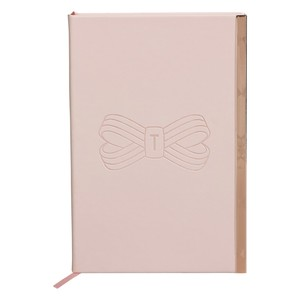 Ted Baker A5 Soft Touch Notebook Pink Bow