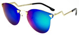 Ego Fashion Sunglasses Rimless Frame Women Blue/Green/Orange