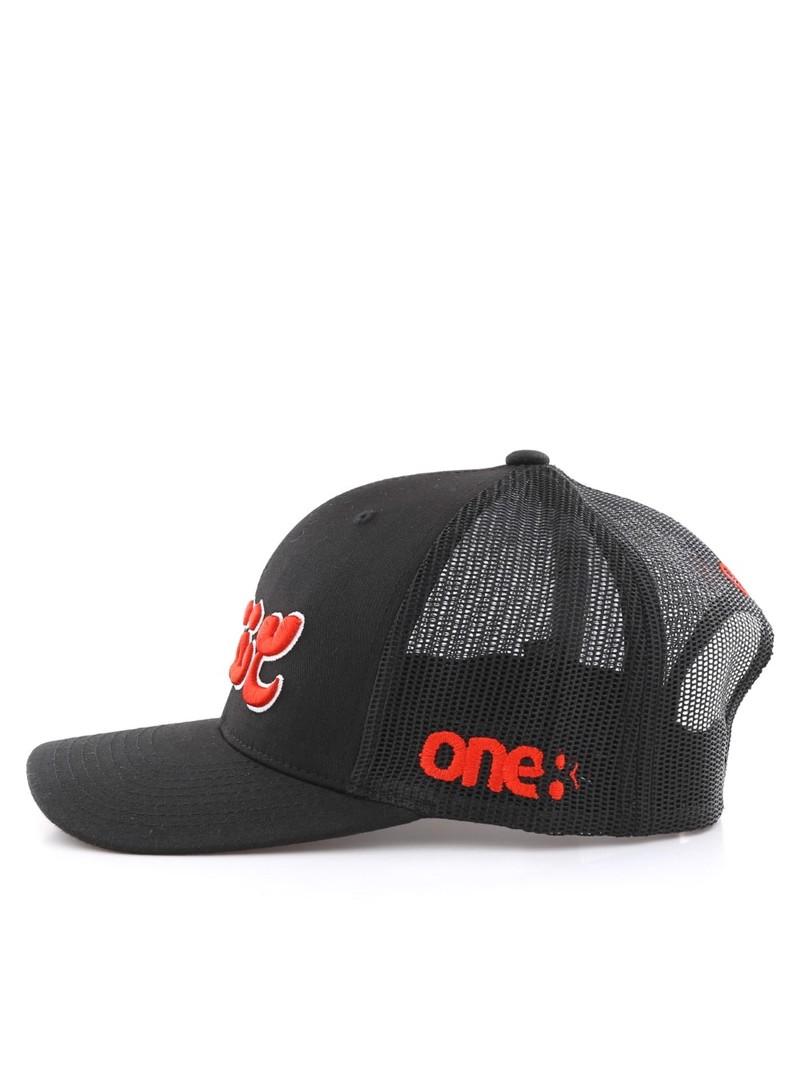 c55d80b4ce76b7 ... One8 Ma3 Nafsak Calligraphy Curved Brim Trucker Hat Unisex Cap Osfa