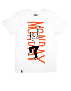 Dedicated Jean Jullien Monday White T-Shirt