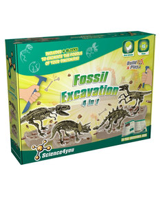 Science 4 You Build & Play Fossil Excavation 4 In 1