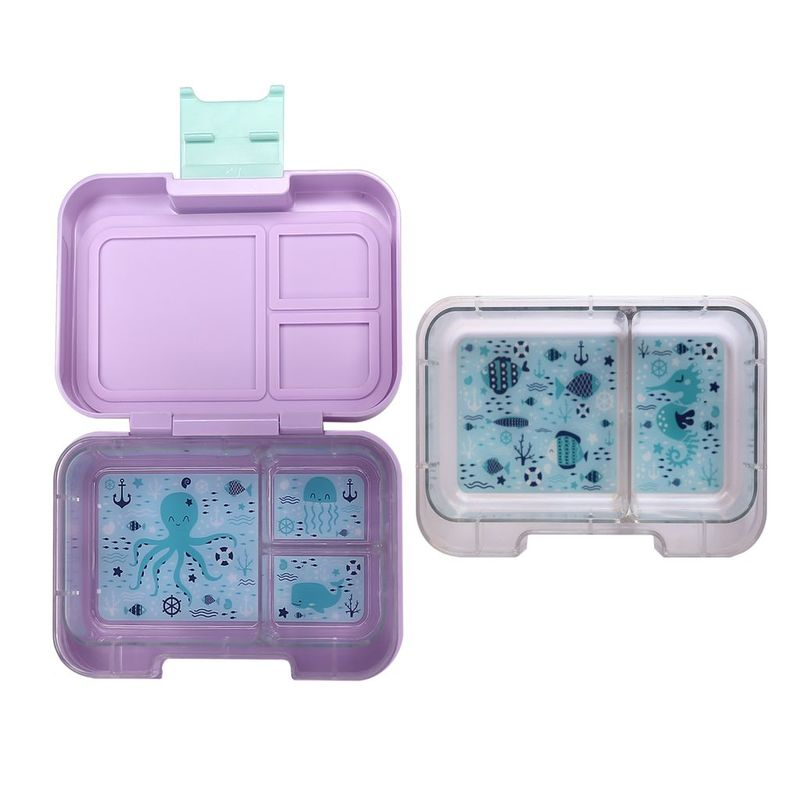 Munchbox Munchi Snack Periwinkle Purple/Mint Lunchbox