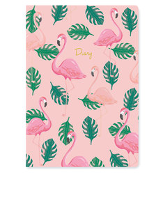 GO STATIONERY FLAMINGO A5 2017/18 MID YEAR DIARY