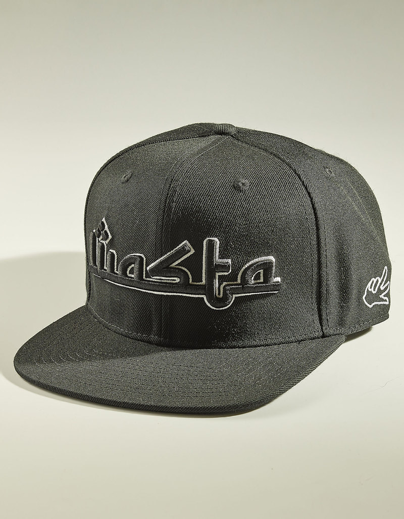 55c1ba8cf World Peace Design Wasta Snapback All Black Cap