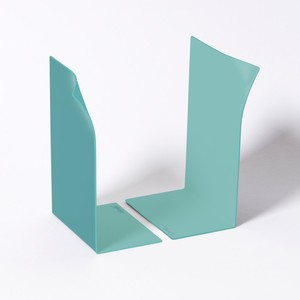 Block Page Book Ends Blue