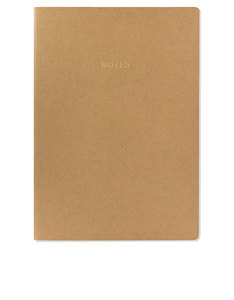 Go Stationery Colourblock Natural Kraft A4 Notebook