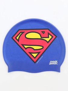 Zoggs Superman Silicone Cap Blue