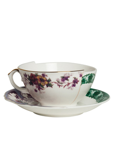 Seletti Hybrid Isidora Porcelain Teacup With Saucer