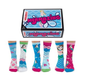 United Oddsocks Mermazing Women's Socks [Size 4-8 UK]