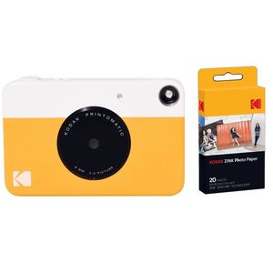 Kodak PRINTOMATIC Instant Digital Camera Yellow + Zink Paper [Pack of 40 Prints]