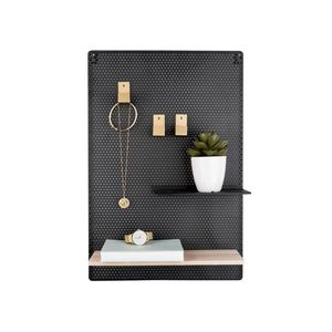 Present Time Memo Board Perky Mesh Iron Black