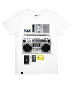Dedicated Casette Playa White T-Shirt