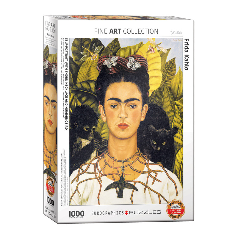 Eurographics Self Portrait with Thorn Necklace & Hummingbird by Frida Kahlo Jigsaw Puzzle [1000 Piece]