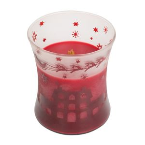 Woodwick Scenic Hourglass Candle with Lid Hot Pomegrante