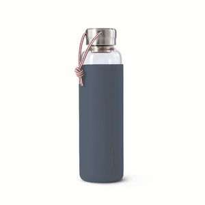Black And Blum Glass Water Bottle Slate