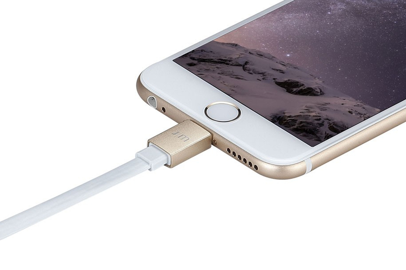 Just Mobile Alucable Flat Gold Dlx Lightning Cable 10cm