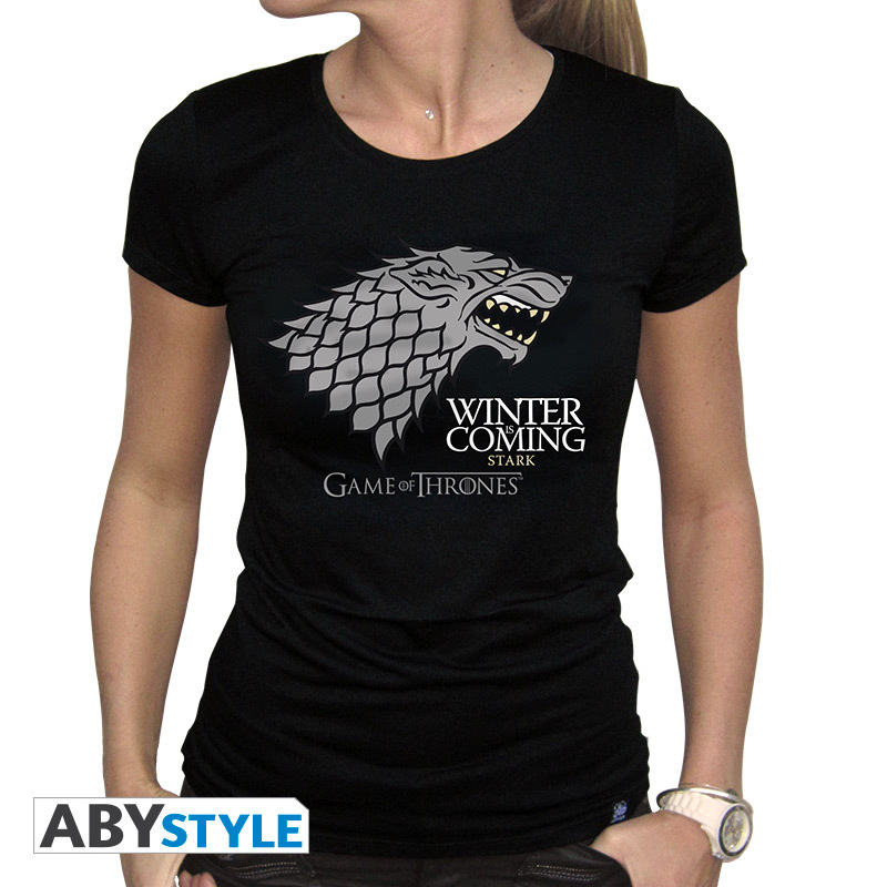 b11b88a6 Abystyle Game Of Thrones Winter Is Coming Black Women'S T-Shirt M | MEFCC |  Selection | Virgin Megastore