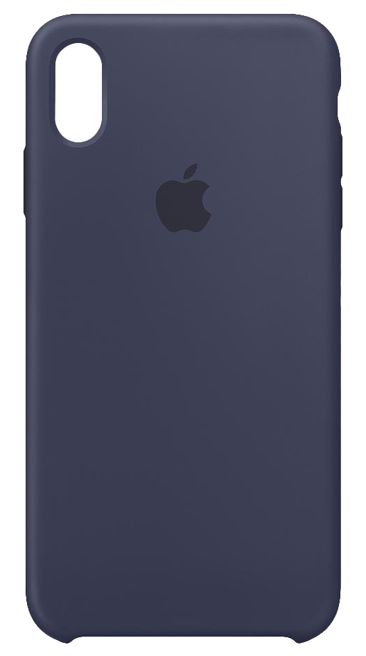 the latest a218e 7ed65 Apple Silicone Case Midnight Blue for iPhone XS Max