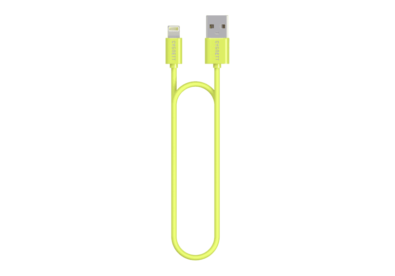 Cygnett Lightning Charge & Sync Green Round Cable 2M