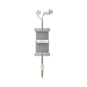 Philo Spool Metal Silver Earphones with Mic & Cable Organizer