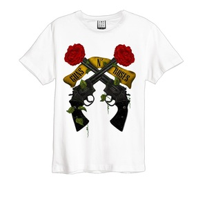 Amplified Guns N' Roses Shooting Roses White Men's T-Shirt L