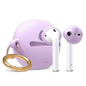 Elago Basic Earbuds Cover Lavender with Pouch for AirPods