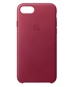 Apple Leather Case Berry For iPhone 7