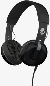 Skullcandy Grind Black/Grey W/Mic Headphones