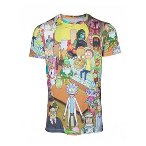 Rick & Morty Printed Allover Mens T-Shirt