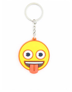 Emoji Tongue Out Face Keychain