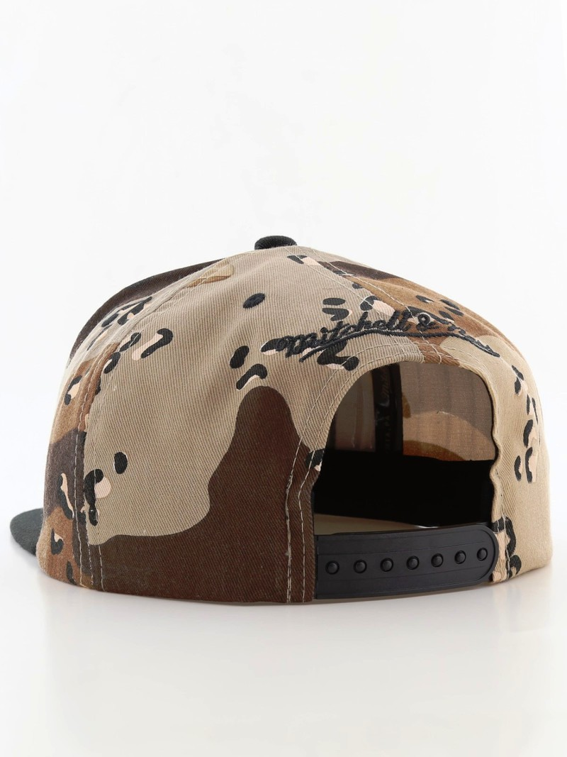 ... Mitchell   Ness M N Box Logo Snapback Men s Cap Desert Camo ... 84310c3e994