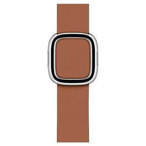 Apple 40 mm Saddle Brown Modern Buckle Small