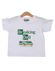 Nippaz With Attitude Breaking Dad White Kids T-Shirt