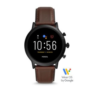 Fossil FTW4026P Brown/Black Smart Watch 44mm [Gen 5]