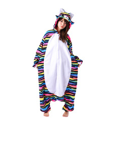 Rave Cat Kigurumi Adult Fleece Costume