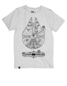 Dedicated Star Wars Falcon Grey Melange T-Shirt