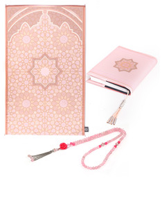 Bahr Al Noor Peach Silk 'Hers' Luxury Prayer Set