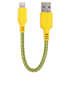 Energea NyloTough Rapid Charge & Sync Yellow Lightning Cable 16cm