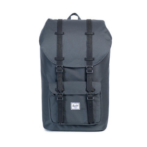 Herschel Little America Dark Shadow/Black Synthetic Leather Backpack