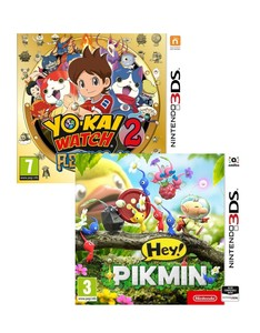 Yo-Kai Watch 2 Fleshy Souls + Hey Pikmin [Bundle]