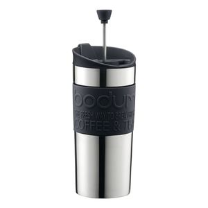 Bodum Travel Press S/S with Extra Lid 0.35L Black