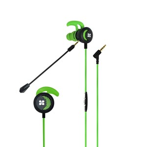 Promate Clink Wired Gaming In-Ear Earphones With Detachable Mic And Ear Hooks Green