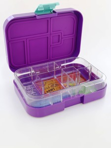 Munchbox Maxi 6 Lunchbox Purple Peacock