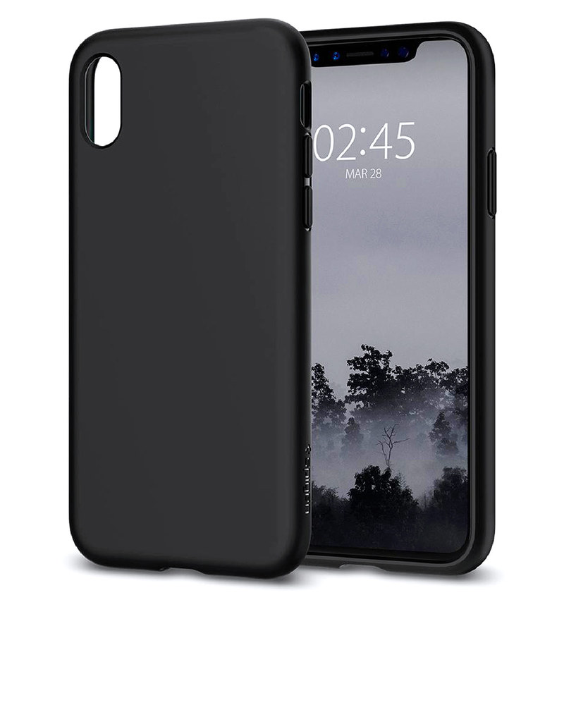 official photos 5d3cb e2613 Spigen Liquid Crystal Case Matte Black For iPhone X