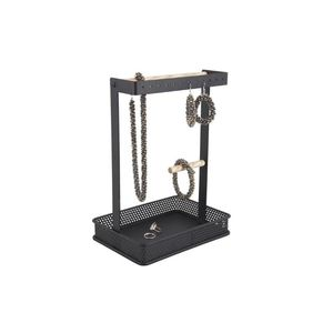 Present Time Jewellery Stand Merge Square Iron Black