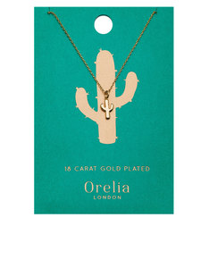 Orelia Gold-Plated Cactus Ditsy Necklace